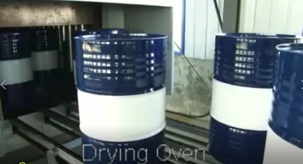 Drum drying oven