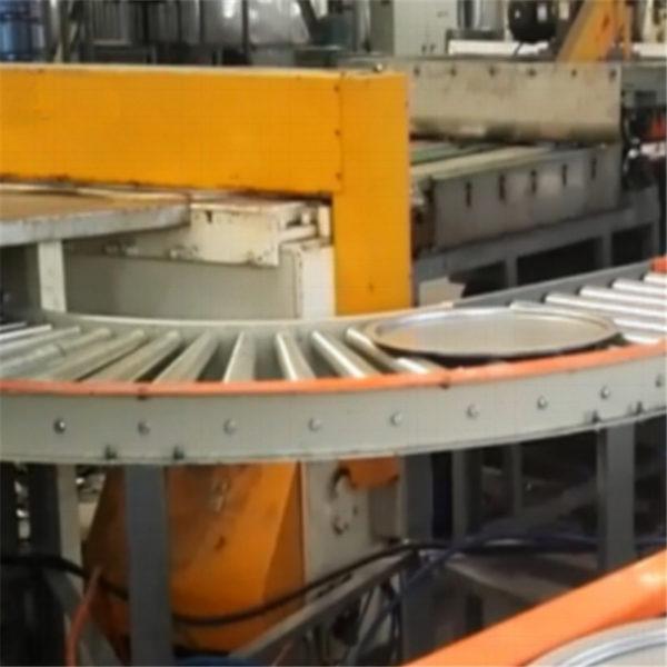 Lid bending conveyor