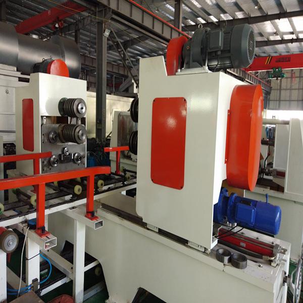 Steel drum corrugation machine