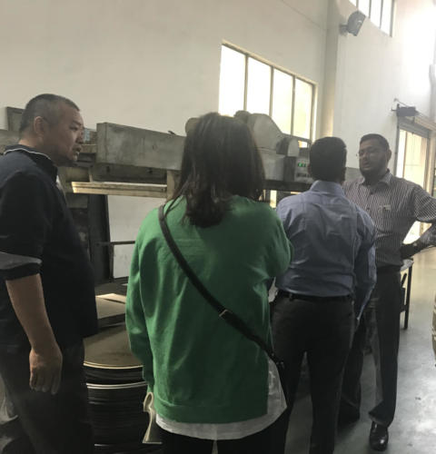 T.K technical team visiting